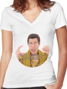 PPAP - Pen Pineapple Apple Pen Women's Fitted V-Neck T-Shirt