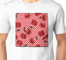 Red roses and polka dots nº2 Unisex T-Shirt