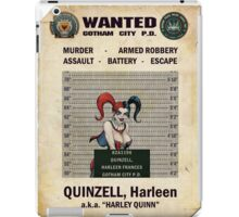 Harley Quinn - Gotham's Most Wanted iPad Case/Skin