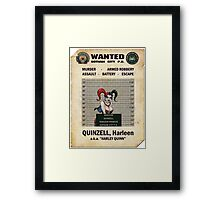 Harley Quinn - Gotham's Most Wanted Framed Print