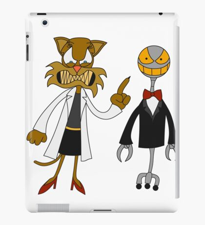 Dr. Meow and her Robot iPad Case/Skin