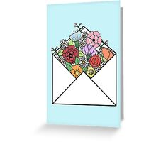 HIPSTER LOVE / FLOWERS LETTER Greeting Card