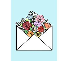HIPSTER LOVE / FLOWERS LETTER Photographic Print