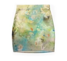 Earth Serenity 'Rain Painting' Mini Skirt