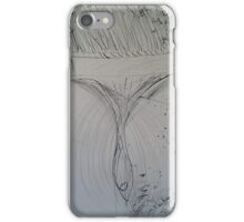 Ink-Drawn Paintbrush iPhone Case/Skin