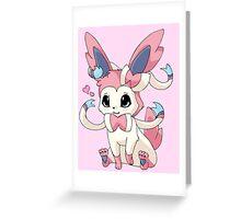 Cutesy Sylveon Pokemon Greeting Card