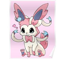 Cutesy Sylveon Pokemon Poster