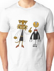 Dr. Meow and her Robot Unisex T-Shirt