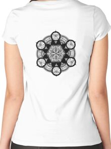 6 Circle Mandala Women's Fitted Scoop T-Shirt