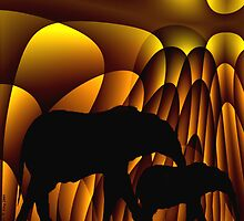 Curvilinear Project No. 257 ( Storms Over Africa ) by CurvilinearArt