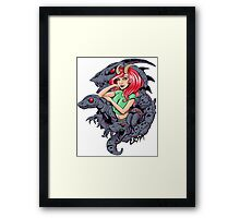 Lizard Queen Demon Girl Framed Print