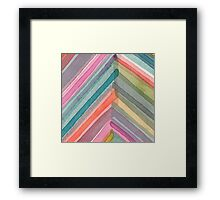 Watercolor Chevron Framed Print