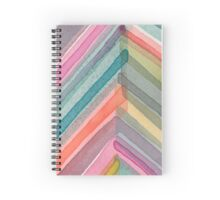 Watercolor Chevron Spiral Notebook