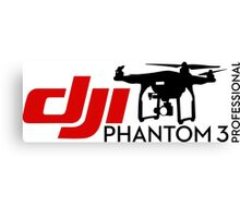 DJI Phantom  3 Professional Pilot UAV Drone white Canvas Print