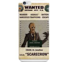 Scarecrow - Gotham's Most Wanted iPhone Case/Skin