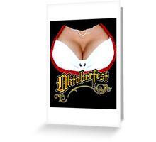 Funny Oktoberfest Fraulein Greeting Card