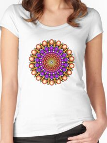 Time Tunnel Mandala Women's Fitted Scoop T-Shirt