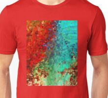 Colorful Abstract Art - Rejoice - Sharon Cummings Unisex T-Shirt