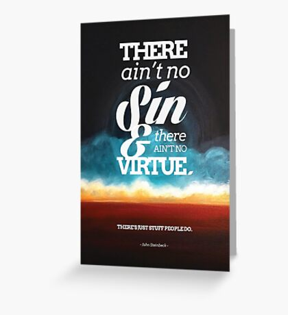 Ain't No Sin Greeting Card