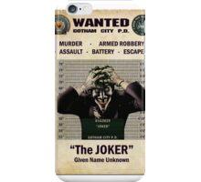 Joker - Gotham's Most Wanted iPhone Case/Skin
