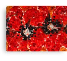 Modern Red Poppies - Sharon Cummings Canvas Print