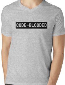 Code Blooded Mens V-Neck T-Shirt