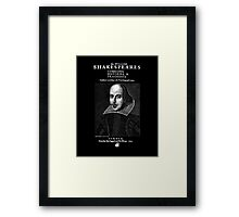 Shakespeare First Folio Frontpiece - Simple White Version Framed Print