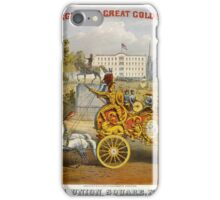 045 Above Van Amburgh Co's Great Golden Chariot Below Passing Union Square New York Weight 6000 lbs Cost 700000 iPhone Case/Skin