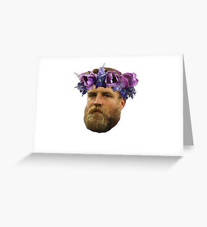 Flower Crown Ryan Fitzpatrick Greeting Card