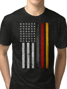 German American Flag Tri-blend T-Shirt