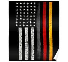 German American Flag Poster