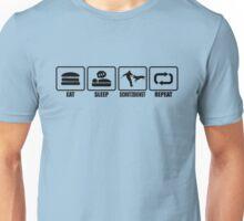 EAT - SLEEP - SCHUTZDIENST - REPEAT Unisex T-Shirt