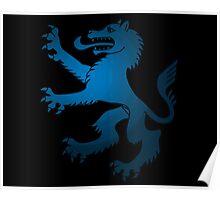 Royal Werewolf Blue Clan Symbol Poster