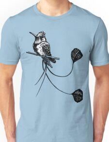 black and white paint draw eagle hummingbird  Unisex T-Shirt