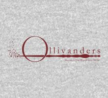 Ollivanders Logo in Red T-Shirt