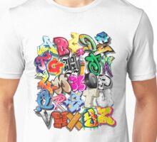 Graffiti Alphabet  Unisex T-Shirt