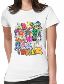 Graffiti Alphabet  Womens Fitted T-Shirt