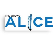 The Wrong Alice Canvas Print