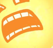 Scared Sun Sticker