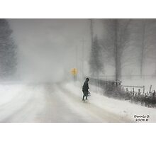 Headed Home:20 inches and Still Coming Down Photographic Print