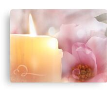 Flower, Candle, Flame Canvas Print