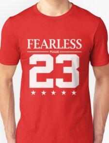 Fearless Psalm 23 - Christian Bible Scriptures Unisex T-Shirt