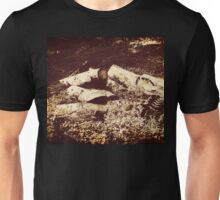 pile of old logs Unisex T-Shirt