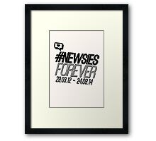#newsiesforever Framed Print