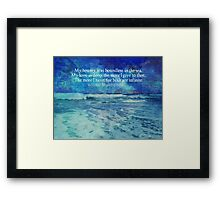 William Shakespeare LOVE SEA quote  Framed Print