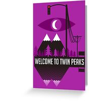 Welcome To Twin Peaks (Trees Alternate) Greeting Card