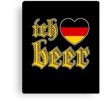 Ich Liebe Beer I Love Beer Canvas Print