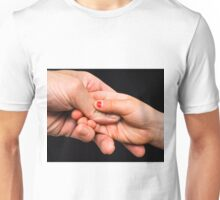 Child and parent holding hands Unisex T-Shirt