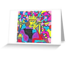 Scribz King of The PAint Greeting Card