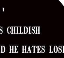 Death Note - L quote  Sticker